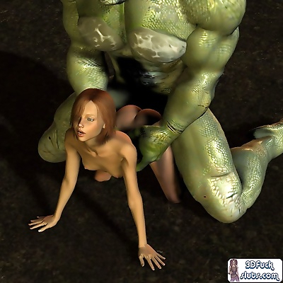 3d toon girl fucked by giant..