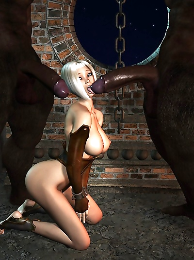 3d elf trying two very huge..