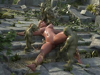 Dozen of 3d toon goblins..