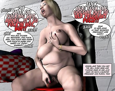 Fett bizarre Schwanger orgy..