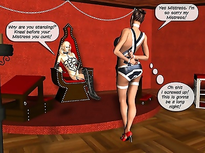 Mistress and maid bdsm orgy..