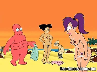 Futurama famous cartoon orgy..