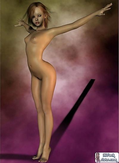 صغيرة الثدي تون فتاة topless..