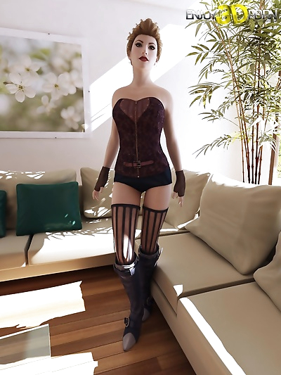 Sexy chick in corset wants to show her body - part 495